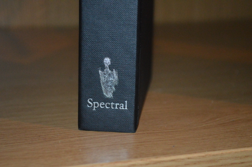 Slipcase spine with logo