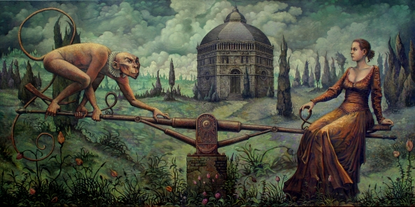 """The Witch's Scale"" by Angela Slatter. Cover artwork ""Hexenwippeoel"" © Michael Hutter"