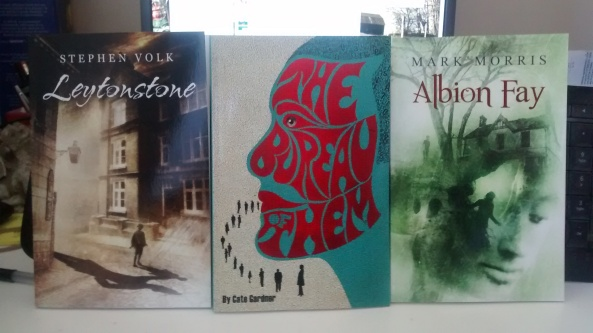"""Leytonstone"" by Stephen Volk, ""The Bureau of Them"" by Cate Gardner, and ""Albion Fay"" by Mark Morris"